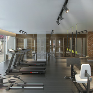 Perspectiva Artística do Fitness Indoor